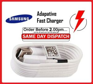 Genuine-Original-Samsung-Galaxy-A3-A5-S8-S9-S6-S7-Edge-Fast-Charger-USB-Cable