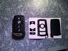 Carbon Schwarz Schlüssel Folie BMW Key E67 5er E67  6er 7er E65 E66 E M 3 Tasten