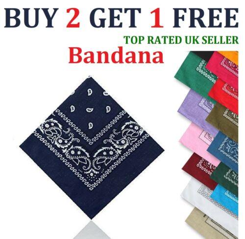 Paisley BANDANA bandanna headwear//hair band scarf neck wrist wrap band head UK