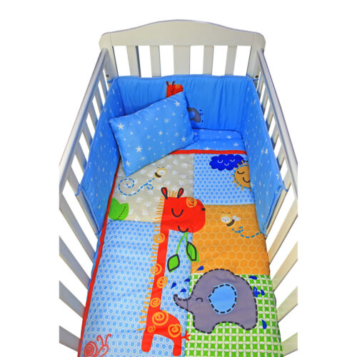 Complete Baby Bed Bedding Set Cot Summer Time Duvet Bumper Fitted Sheet Pillow