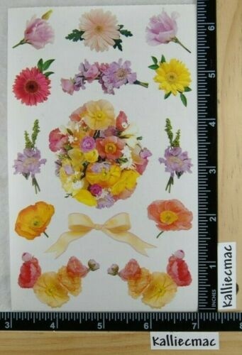 VINTAGE Stickers Mrs Grossman FLOWER MIX