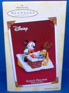 2005 Santa's Helpers Mickey and Pluto Hallmark Ornament