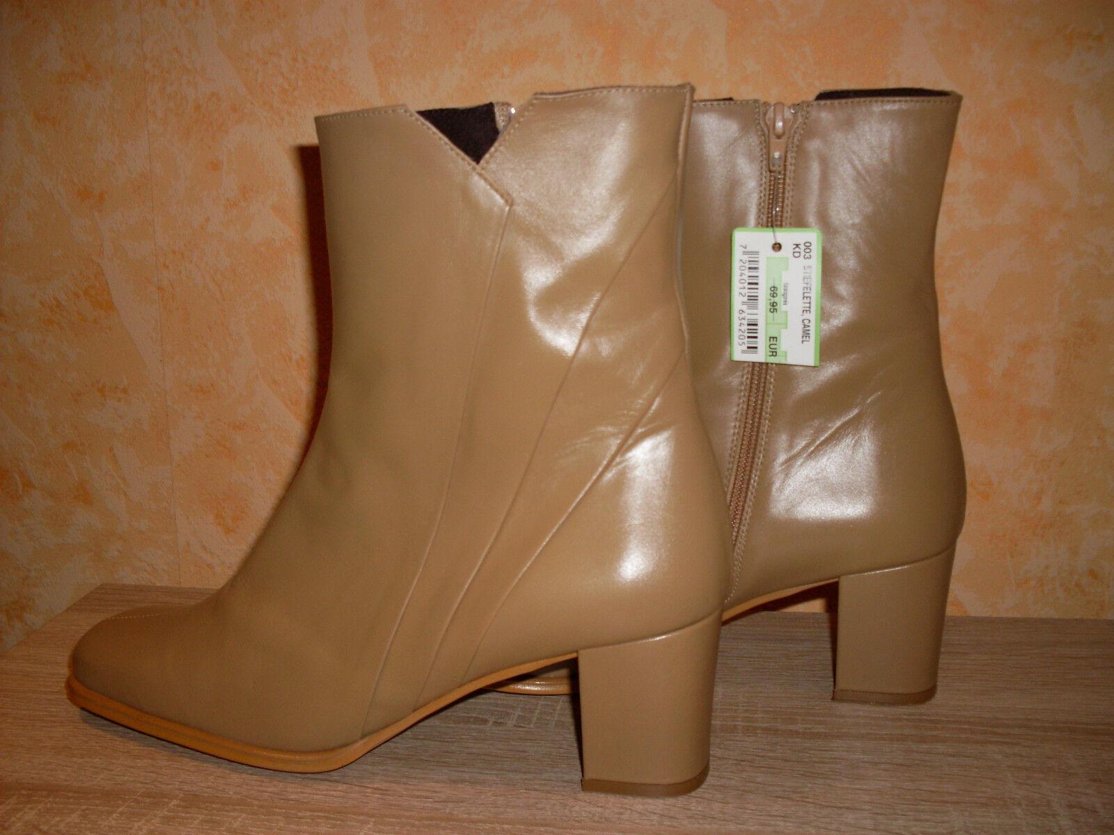 Simple botín pantalones zapato nuevo talla 42 en camelColornem Napa