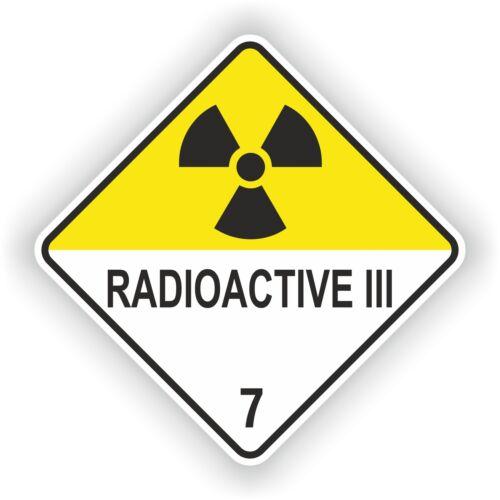Pegatina radiactivos Iii # 03 logotipo signo Laptop Puerta camión coche Casco De Motocicleta