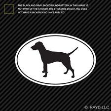 German Pinscher Euro Oval Sticker Die Cut Decal Adhesive Vinyl dog canine pet