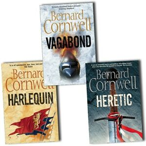 Grail-Quest-Series-Collection-Bernard-Cornwell-3-Books-Set-Heretic-Harlequin