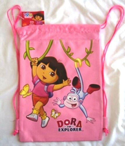 Dora the Explorer LICENSED Drawstring Backpack Sling Tote Bag Wholesale Pink :o