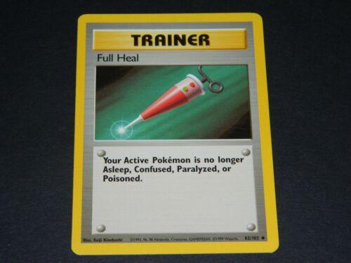 Pokemon Base Set 1 UN-COMMON Full Heal 82//102 NM//M Condition