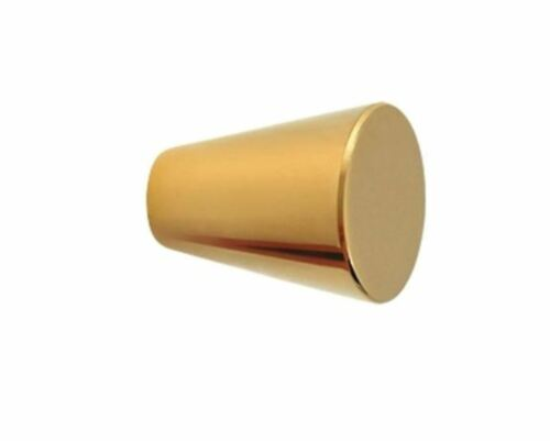 Cabinet Knobs Solid Brass Cone 1 inch Diameter 10 Finishes By FPL Door Locks
