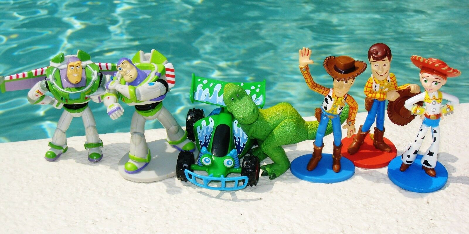 Toy Story Character Playset Assorted Assorted Assorted Woody Buzz 7 Figures Lot Cake Topper Toys 0c72c0