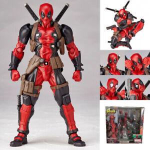 Avengers-Revoltech-Deadpool-Actionfigur-Figur-mit-Zubehoer-16cm