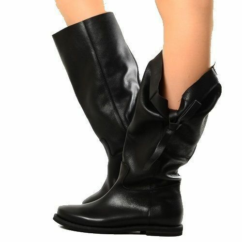 Stivali Morbidi Neri Biker Boots Scarpe Donna Pelle Neri Morbidi Indian Alternative Imbuto2 18e56c