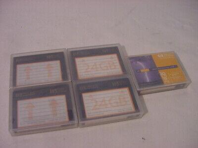 (5) Genuine Hewlett Packard 24gb Dds-3 Data Cartridge Hp