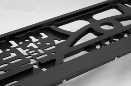 2x Negro Número De Matrícula rodea titular de licencia placa marco búfer de goma coche 12x
