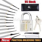 Transparent Practice Padlocks 12pcs Unlocking Lock Pick Set Key Extractor Tool