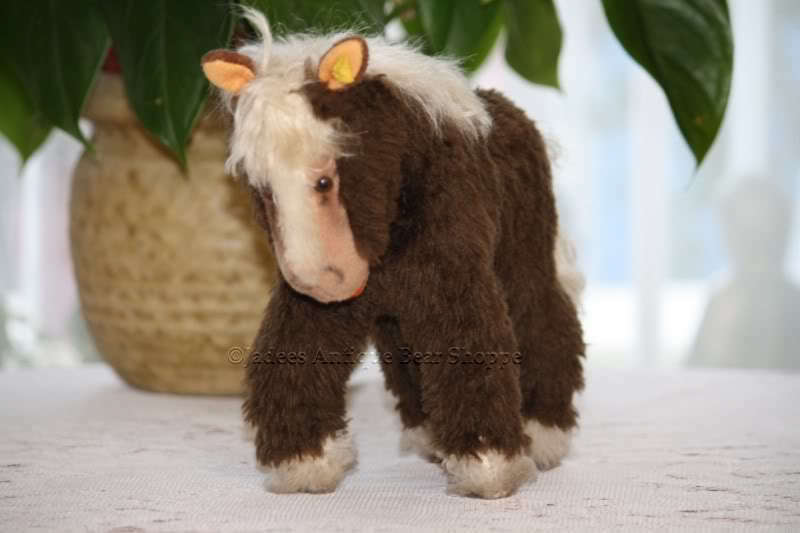 Steiff Cosy Pony Horse 5160 28 Button & & & Tag 993a5f