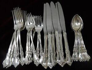 No Monograms Reed /& Barton Savannah Sterling Silver Teaspoon 6 Inches