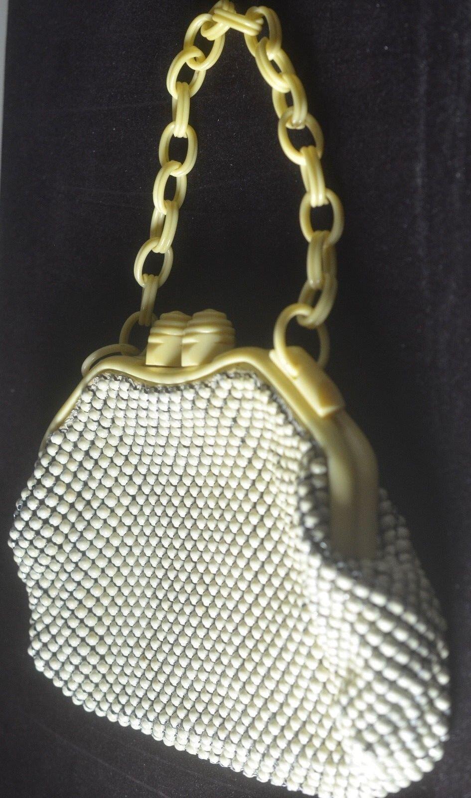 Retro Vintage Whiting Whiting Whiting & Davis Metall mit Nieten Besetzt Beutel Zellulose Akzente | Niedriger Preis  | Guter weltweiter Ruf  c75106