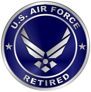 bfdbda59433 US Air Force Retired Car Wall Window Vinyl Decal Sticker Military