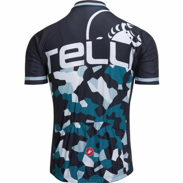 Canari Pro Road Cycling Jersey Mens Large L LG Short Sleeve Blue New