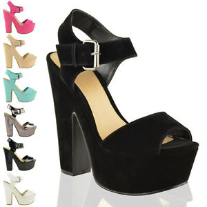 LADIES-WOMENS-DEMI-WEDGE-PEEP-TOE-PLATFORM-HIGH-HEEL-SHOES-ANKLE-STRAP-SIZE