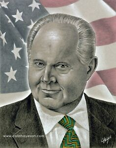 PRICE REDUCED! Rush Limbaugh Tribute Portrait, now with FREE SHIPPING!