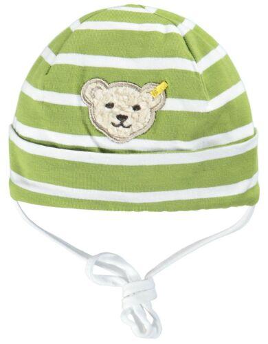 Steiff ® Geringelte Jersey Bonnet vert ours 41 43 45 47 49 51 53 55 NOUVEAU!