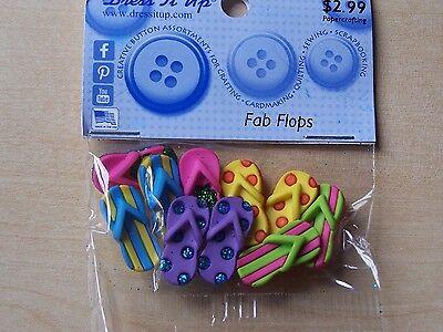Scrapbooking craft Dress it up Buttons Fab flops