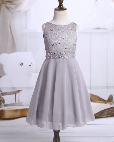 Kid Flower Girl Dress Princess Party Wedding Bridesmaid Communion Lace Dresses