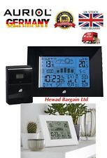 Digital Weather Station with wireless sensor,and Radio Controlled Clock(Black)