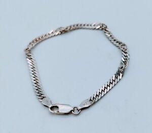 Sterling Silver 925 Twisted Herringbone PolishSatin Bracelet