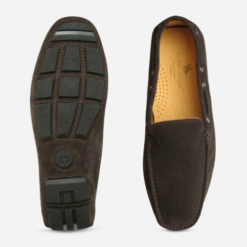 Suede Driving Brown Moccasins Shoe Dark Italian Rtqw5fK0