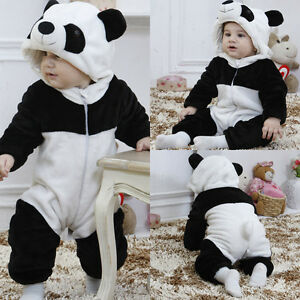 3e20358ffedf UK Winter Toddler Kids Baby Girls Boys 3D Panda Romper Jumpsuit ...