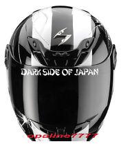 STICKER VISIERE DARK SIDE OF JAPAN CASQUE MOTO SCOOTER TUNING YAMAHA KAWASAKI