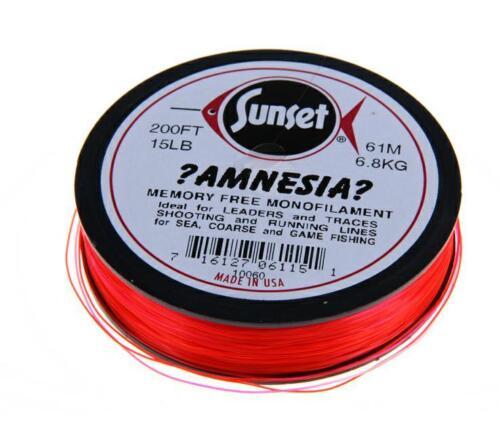 Sunset Amnesia Red Leader-Lenza da pesca-memoria libera Monofilamento Linea
