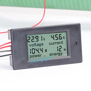 dc 100a lcd volt current kwh watt panel power meter. Black Bedroom Furniture Sets. Home Design Ideas