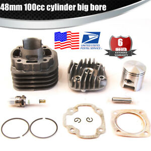 Details about Performance Big Bore Cylinder Kit 48mm 100cc for JOG50 50CC  YAMAHA BWS / ZUMA