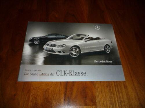 MERCEDES BENZ CLK COUPE E CLK Cabrio Grand Edition PROSPEKT 02//2008