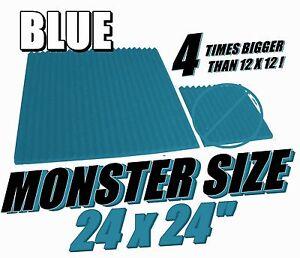 Monster-Sized-Acoustic-Foam-Panels-24x24-Blue-Wedge-Soundproofing-Studio-Tiles