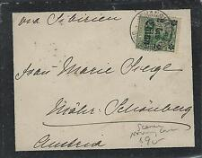 CHINA GERMAN OFFICES  (PP0309B) 1908 MOURNING COVER FROM SHANGHAI WITH ENCLOSURE