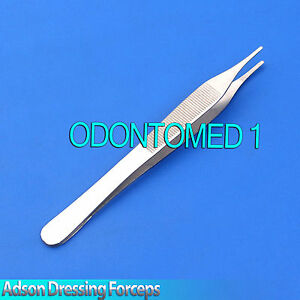 Surgical-Adson-15cm-Dressing-Tweezer-Serrated-Tip-Dental-Tissue-Forceps-Plier
