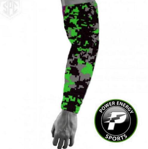 Titanium Baseball Sports Compression Arm Sleeve Lime Black Grey Digital Camo