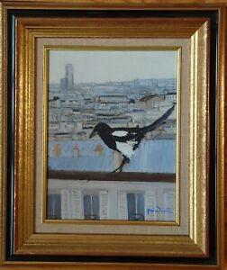 Poindrelle Patrice, tableau Paris huile sur toile signée