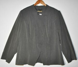 ee948f98112 NEW Lane Bryant Plus Size 26 28W Women s Gray Button Front Blazer ...