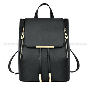 65e23fb07560 Women Lady Leather Backpack Handbag Girls Shoulder Travel School Bag  Rucksack