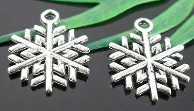 wholesale lots Tibetan Silver Snowflake Charms Lead-Free