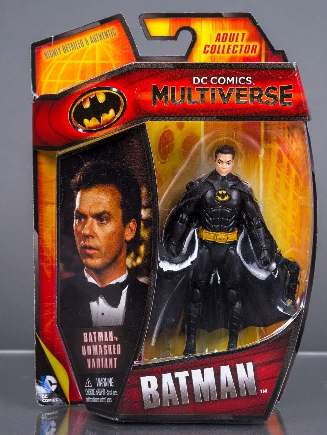 DC COMICS Multiverse Batman figura de 89 3.75  1989 Keaton desenmasCocheado variante Chase