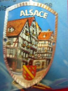Alsace France new shield mount badge stocknagel hiking medallion G9922