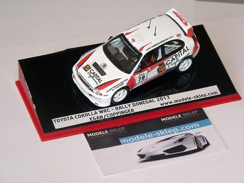 venta directa de fábrica Jugueteota CoroLLA WRC Egan Egan Egan Coppinger Rally Donegal 2013 irlandés TARMAC RALLY  precioso