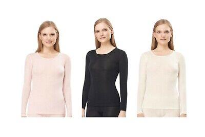 Utenos Merino Wool Ultra Soft Woman Longsleeve Shirt Base Layer Made in Europe Union